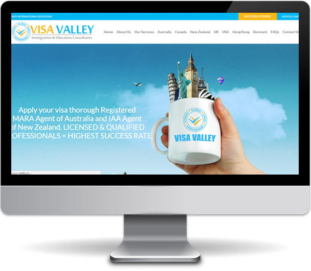 Visa Valley website